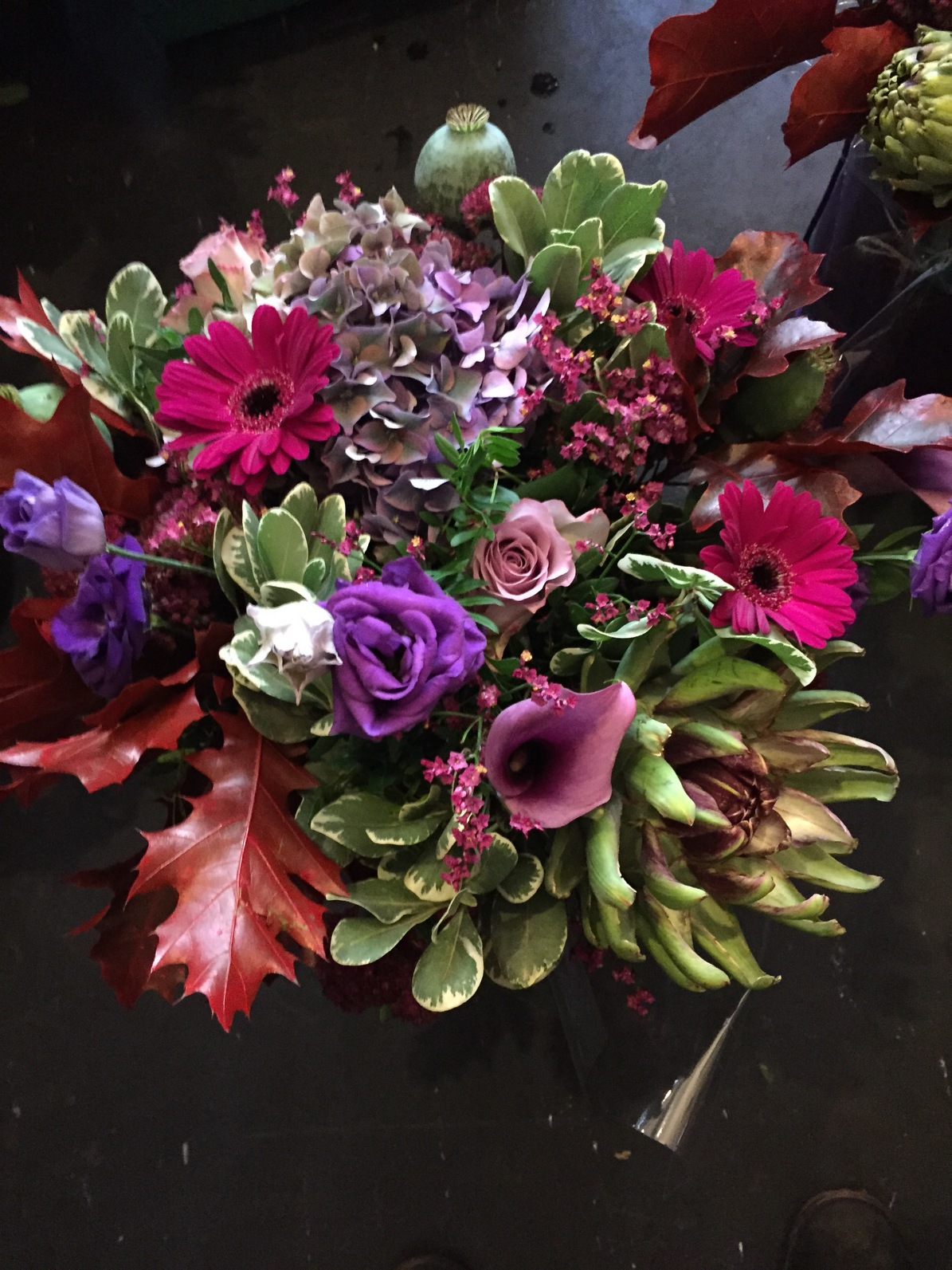 Send flowers in holborn free delivery janets blog this beautiful bouquet made up of vintage shades mixed with the texture of artichoke hydrangea is typical of this time of year izmirmasajfo