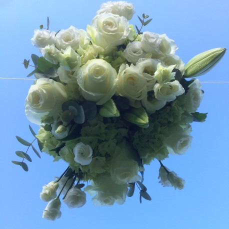 Luxury White Roses & Orchids