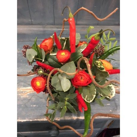 Hot and fiery bouquet
