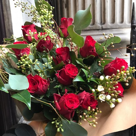 12 Red roses for Valentines day