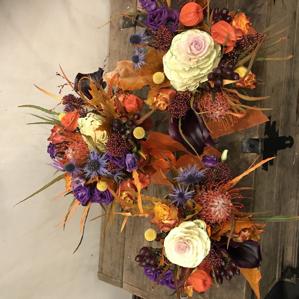 Halloween wedding bouquets