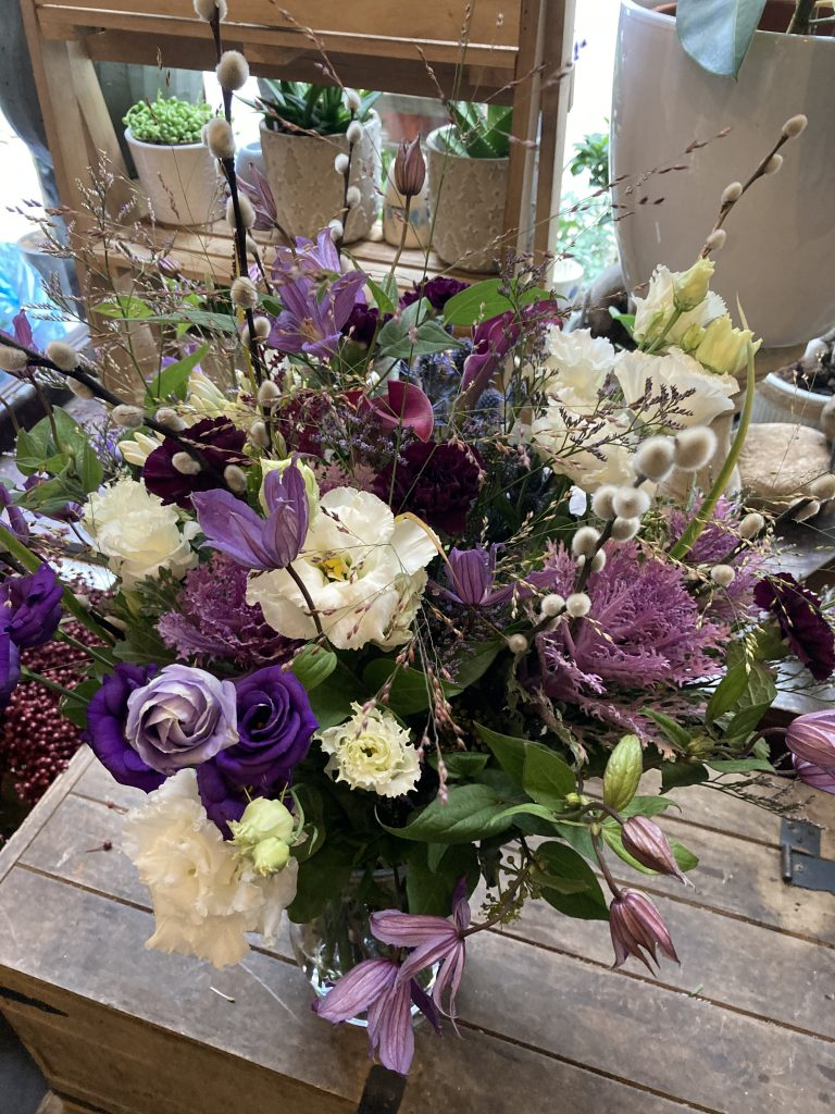 Wild purple and white bouquet